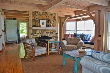 Aquinnah, Martha's Vineyard Martha's Vineyard vacation rental - ...enjoy the Field Stone Fireplace