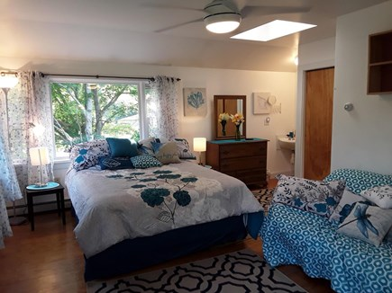 Oak Bluffs walk to town Martha's Vineyard vacation rental - Natural light filled master bedroom.
