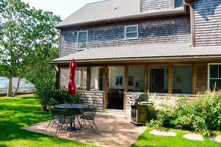 West Tisbury Martha's Vineyard vacation rental - Patio off the screened porch for grilling and dining al fresco