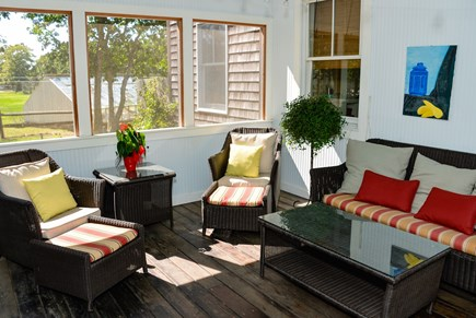West Tisbury Martha's Vineyard vacation rental - Lovely screen porch also with dining table