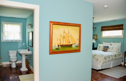 West Tisbury Martha's Vineyard vacation rental - Master bed and bath