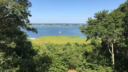 Vineyard Haven Martha's Vineyard vacation rental - Great views from house, short walk to private lakeside beach.