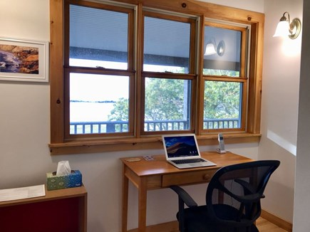 Vineyard Haven Martha's Vineyard vacation rental - Work desk off primary bedroom, hi-speed Wi-Fi, amazing views!