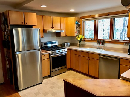 Vineyard Haven Martha's Vineyard vacation rental - Fully-equipped kitchen with new appliances, lake & ocean views.
