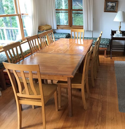 Vineyard Haven Martha's Vineyard vacation rental - Open dining area with lake and ocean views. Seats 10.
