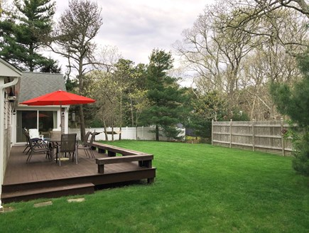 Edgartown Martha's Vineyard vacation rental - Large back yard with Mahogany deck