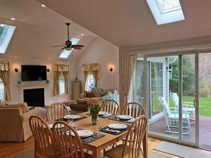 Edgartown Martha's Vineyard vacation rental - Dining area seats 8, adjoins living room to kitchen