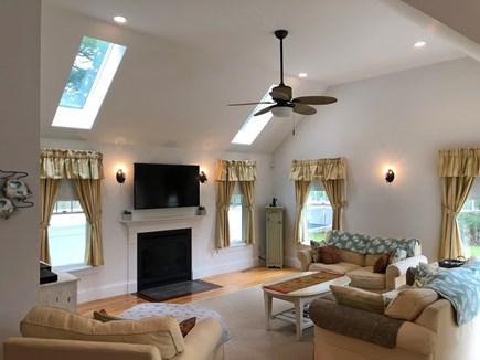 Edgartown Martha's Vineyard vacation rental - Vaulted great room with 55 inch LCD TV