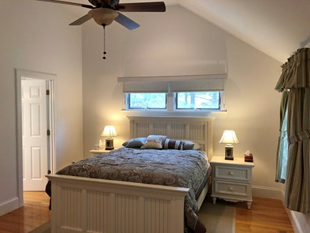 Edgartown Martha's Vineyard vacation rental - Queen master bedroom w/ private bath, walk-in closet