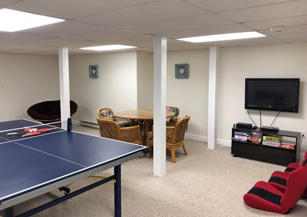 Edgartown Martha's Vineyard vacation rental - Downstairs rec room with TV, ping-pong, games