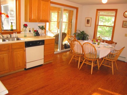 West Tisbury Martha's Vineyard vacation rental - Sunny kitchen, hardwd floors, open floor plan, sliders to Sun Rm