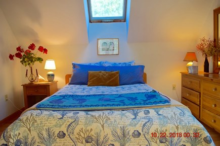 West Tisbury Martha's Vineyard vacation rental - Queen bedroom-2nd floor- very spacious, skylight & sitting area
