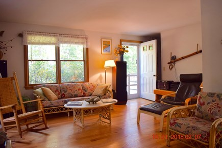 West Tisbury Martha's Vineyard vacation rental - View of living room from the dining room