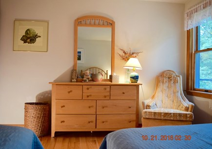 West Tisbury Martha's Vineyard vacation rental - 1st floor room with two twins another perspective