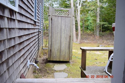 West Tisbury Martha's Vineyard vacation rental - Steps from deck to outdoor shower