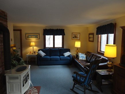 Edgartown  Martha's Vineyard vacation rental - Living room with two couches, chair, and television