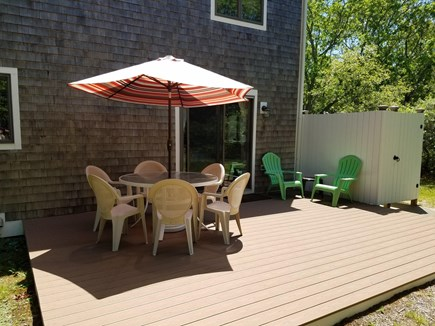Katama - Edgartown, Katama Edgartown  Martha's Vineyard vacation rental - Can you imagine a table, lounge chairs and a charcoal grill?