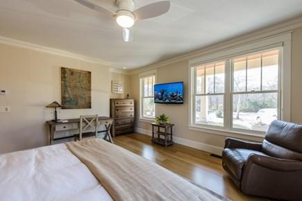 Katama - Edgartown, Edgartown Martha's Vineyard vacation rental - En suite Master King Bedroom on 1st floor: with large 4k def TV