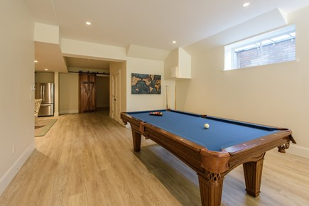 Katama - Edgartown, Edgartown Martha's Vineyard vacation rental - Pool table with ping pong top. Natural light finished basement.