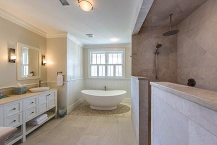 Katama - Edgartown, Edgartown Martha's Vineyard vacation rental - Spa like 1st floor master bathroom with double shower/vanity tub