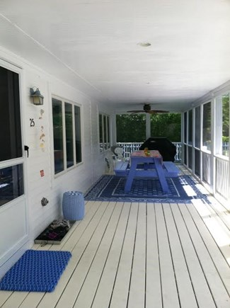 Vineyard Haven   Martha's Vineyard vacation rental - Front porch with picnic table and gas grill