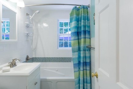 Vineyard Haven, Martha's Vineyard Martha's Vineyard vacation rental - 1st Floor Bath with tub and shower