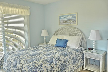 Chappaquiddick Martha's Vineyard vacation rental - Queen Bedroom with Slider and porch