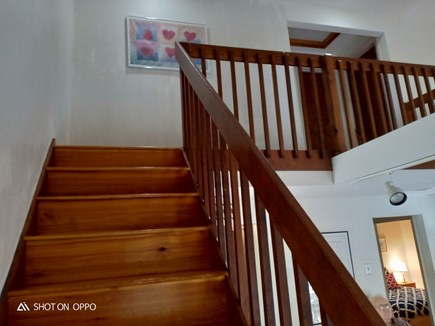 Edgartown , Katama, off Meetin Martha's Vineyard vacation rental - Stairway to two bedrooms and full bath