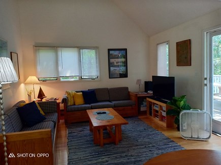 Edgartown , Katama, off Meetin Martha's Vineyard vacation rental - Living room with TV and access to deck