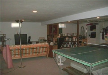 Edgartown Martha's Vineyard vacation rental - Recreation room with ping pong table, futon, TV & washer & dryer