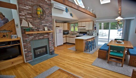 Edgartown Martha's Vineyard vacation rental - Open plan combining gathering, dining and kitchen areas