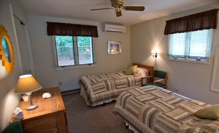 Edgartown Martha's Vineyard vacation rental - Second lower bedroom with twin beds and extra window.