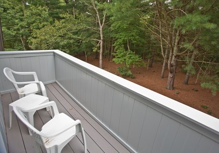 Edgartown Martha's Vineyard vacation rental - Secluded deck with wooded view off the master bedroom