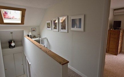 Edgartown Martha's Vineyard vacation rental - Loft area with a table desk, phone and chair