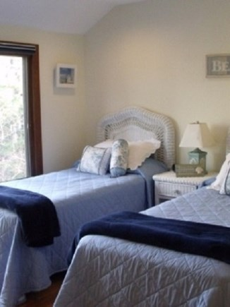 Edgartown  Ferry tix for most  Martha's Vineyard vacation rental - Bedroom with twin beds