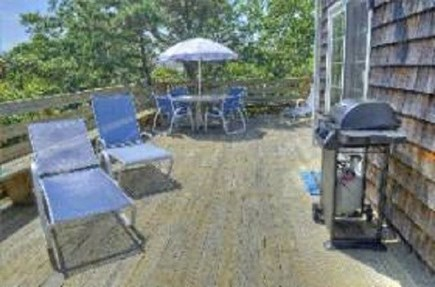 Edgartown Martha's Vineyard vacation rental - Sunny deck for dining