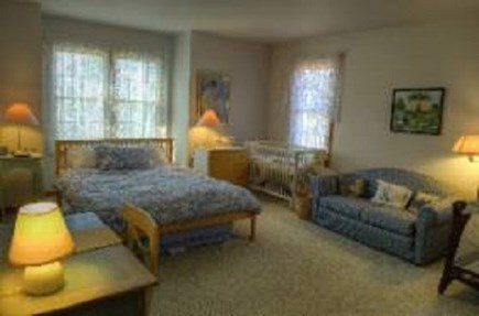 Edgartown Martha's Vineyard vacation rental - Downstairs bedroom with queen size bed, crib and sofa