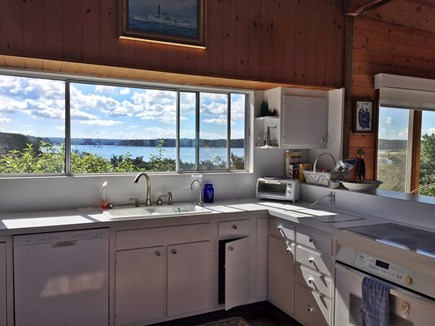 Vineyard Haven Martha's Vineyard vacation rental - Kitchen view to Woods Hole and beyond