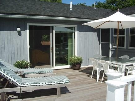 Katama - Edgartown Martha's Vineyard vacation rental - South facing deck for dining or sun bathing