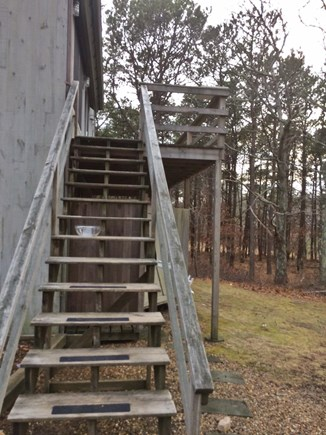 Vineyard Haven Martha's Vineyard vacation rental - Stairs to entry, sm private yard to right, parking just in front.