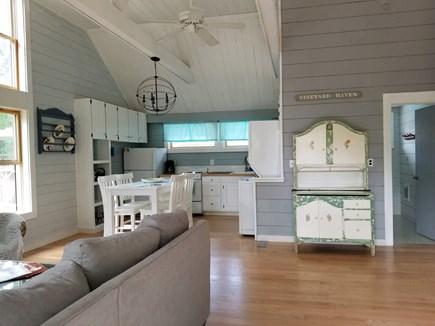 Vineyard Haven Martha's Vineyard vacation rental - Main living area - open style floor plan with kitchen and den.