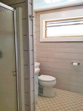 Vineyard Haven Martha's Vineyard vacation rental - Bathroom with new toilet & medicine cabinet.  Simple shower stall