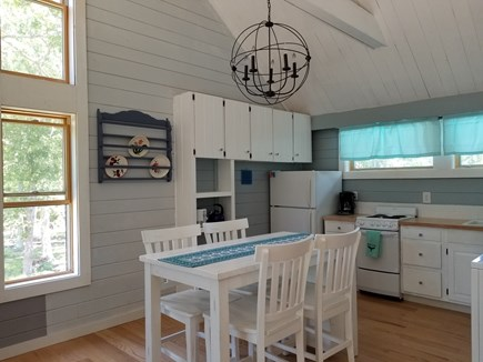Vineyard Haven Martha's Vineyard vacation rental - Kitchen & dining area w new sink and countertop,all new flooring.