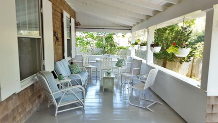 Oak Bluffs, East Chop Martha's Vineyard vacation rental - The front porch is a great place to gather, rain or shine!