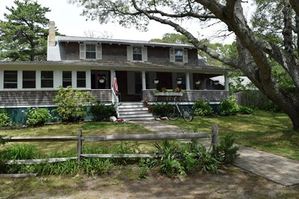 Oak Bluffs, East Chop Martha's Vineyard vacation rental - A big front yard perfect for games or climbing the old tree.