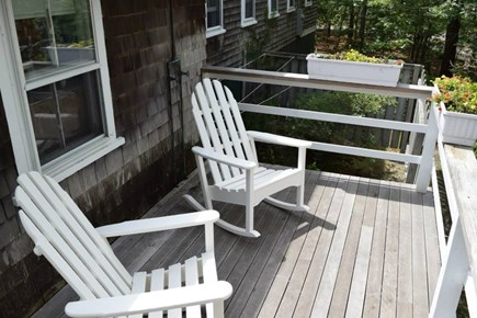 Oak Bluffs, East Chop Martha's Vineyard vacation rental - The sunny back porch is great for a morning cup of coffee.