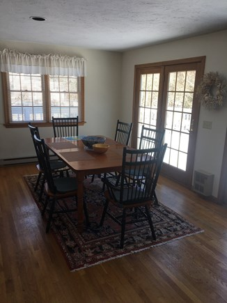 Katama Edgartown   Martha's Vineyard vacation rental - Dining room with French doors leading out to the deck
