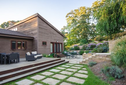 Oak Bluffs Martha's Vineyard vacation rental - Back deck accessed from Kitchen