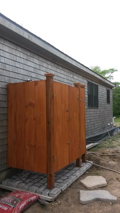 Aquinnah Martha's Vineyard vacation rental - The outside shower to clean off the sand or be one with nature.