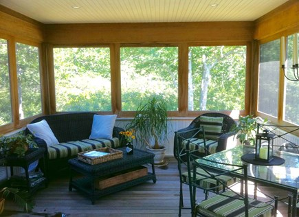 Edgartown Martha's Vineyard vacation rental - Screen Porch brings the outside in.